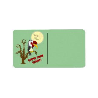 Etiqueta del regalo del halcón de Halloween Etiquetas De Dirección