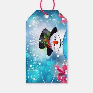 Etiqueta del regalo del muñeco de nieve de las etiquetas para regalos