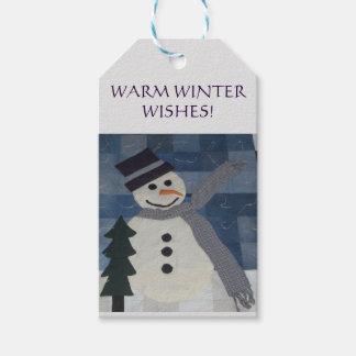 Etiqueta del regalo del muñeco de nieve etiquetas para regalos