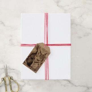 Etiqueta del regalo del navidad de la ardilla