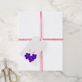 Etiqueta del regalo del navidad de la violeta
