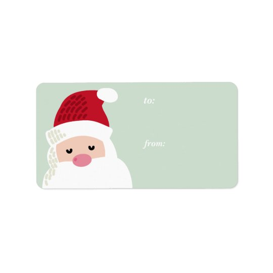 Etiqueta del regalo del navidad de Papá Noel Etiquetas De Dirección