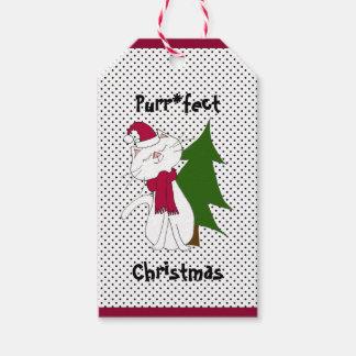 Etiqueta del regalo del navidad de Purr*fect del