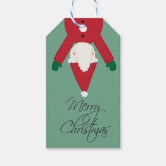 Etiqueta del regalo del navidad de Santa