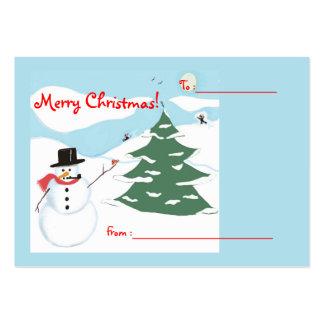 Etiqueta del regalo del navidad del arte del tarjetas de visita grandes