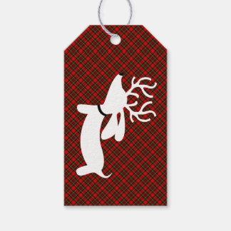 Etiqueta del regalo del navidad del Dachshund del Etiquetas Para Regalos