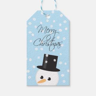 Etiqueta del regalo del navidad del muñeco de etiquetas para regalos
