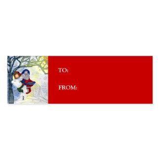 Etiqueta del regalo del navidad del padre tarjetas de visita mini
