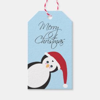 Etiqueta del regalo del navidad del pingüino de etiquetas para regalos