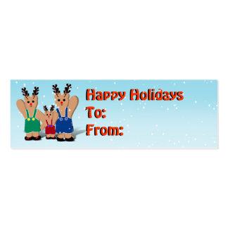 Etiqueta del regalo del navidad tarjetas de visita mini