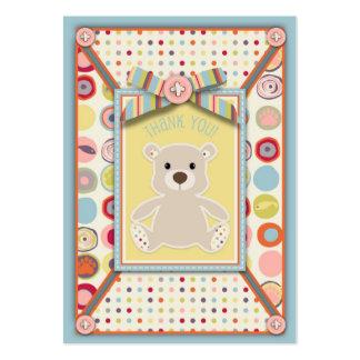 Etiqueta del regalo del oso TY del oso Plantilla De Tarjeta Personal