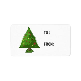 Etiqueta del regalo del pegatina del árbol de etiqueta de dirección