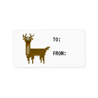 Etiqueta del regalo del pegatina del reno de etiqueta de dirección