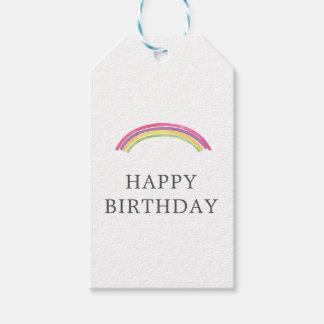 Etiqueta del regalo del presente de cumpleaños del