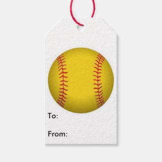 Etiqueta del regalo del softball