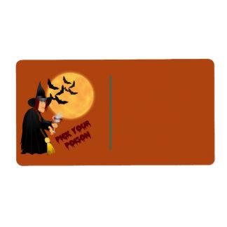 Etiqueta del regalo del veneno de Halloween Etiqueta De Envío