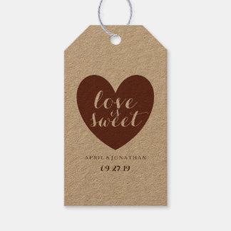Etiqueta del regalo - el amor es dulce etiquetas para regalos