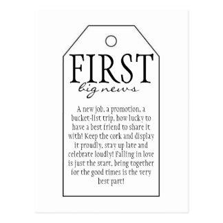 Etiqueta del regalo para la botella de vino - postal