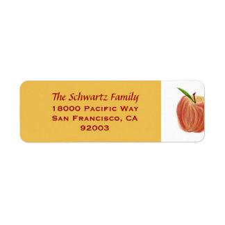 Etiqueta del remite de Apple del bosquejo