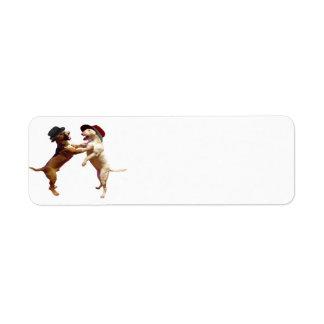 Etiqueta del remite de bull terrier del baile