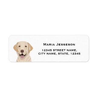 etiqueta del remite de Labrador Etiqueta De Remite