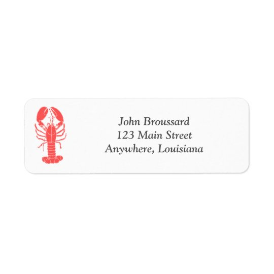 Etiqueta del remite de los cangrejos etiqueta de remitente