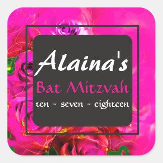 Etiqueta del remite de Mitzvah del palo de los