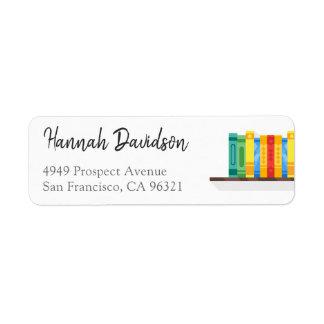Etiqueta del remite del aficionado a los libros