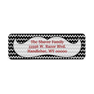 Etiqueta del remite del bigote etiqueta de remite
