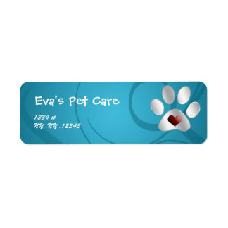 etiqueta del remite del cuidado de animales de com etiqueta de remite