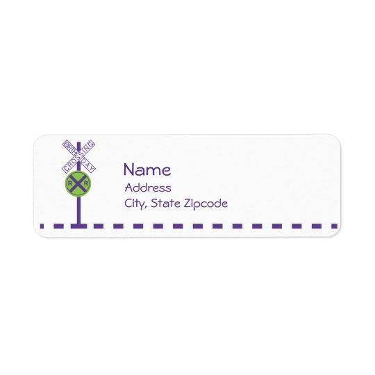 Etiqueta del remite del cumpleaños - tren etiqueta de remitente