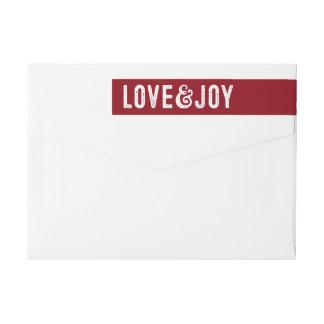 Etiqueta del remite del día de fiesta del amor y etiquetas para remite