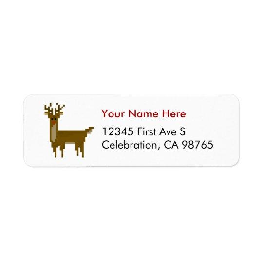 Etiqueta del reno de Rudolph del navidad del