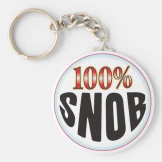 Etiqueta del snob llaveros