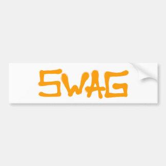 Etiqueta del Swag - naranja Pegatina Para Coche