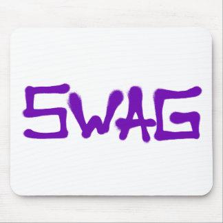 Etiqueta del Swag - púrpura Alfombrilla De Ratón