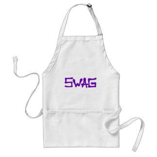 Etiqueta del Swag - púrpura Delantal