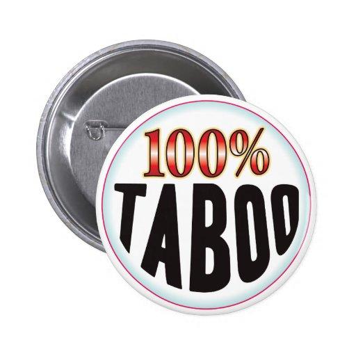 Etiqueta del tabú pins