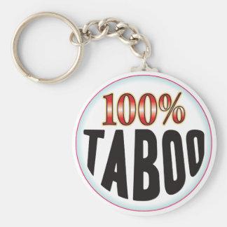 Etiqueta del tabú llavero personalizado