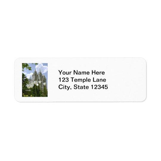 Etiqueta del templo mormón de Salt Lake City Etiqueta De Remitente