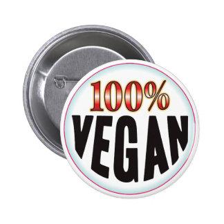Etiqueta del vegano chapa redonda 5 cm