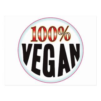 Etiqueta del vegano tarjetas postales
