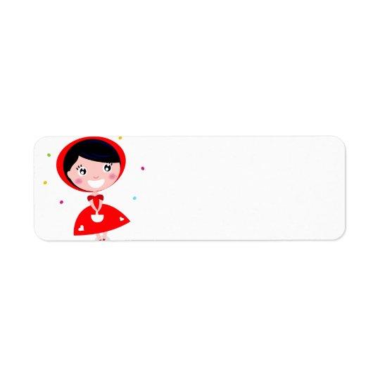 Etiqueta del viaje con la princesa roja etiqueta de remitente