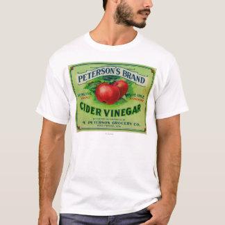Etiqueta del vinagre de la sidra de Peterson Camiseta