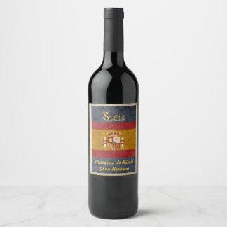 Etiqueta del vino de España
