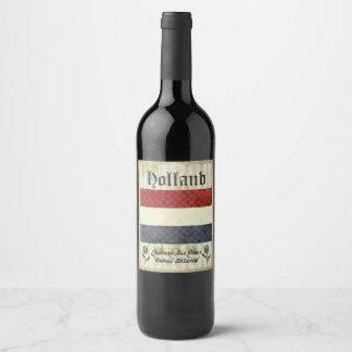 Etiqueta del vino de Holanda