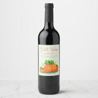 Etiqueta del vino de la caída