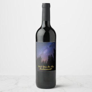 Etiqueta del vino de la oferta de la dama de honor