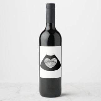 Etiqueta del vino de la sonografía
