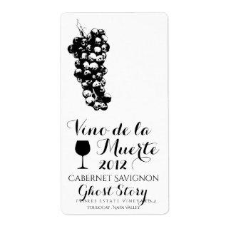 etiqueta del vino de vino de la muerte etiquetas de envío